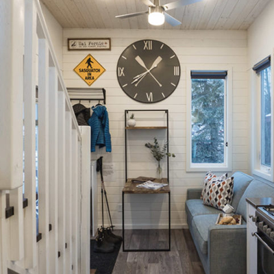 Inside of tiny home.