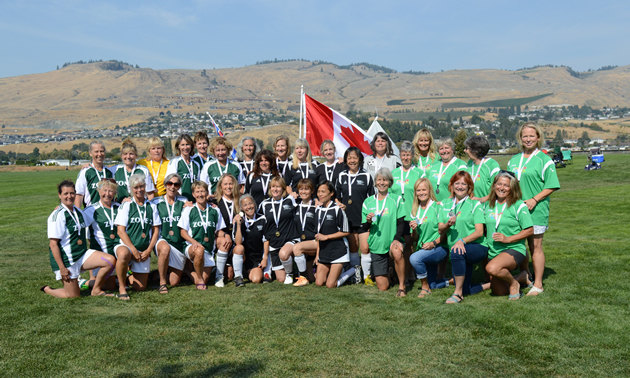 The Women's Soccer competitors of last year's games in Vernon, B.C.
