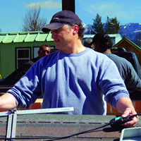 Canadian Solar Institute Owner and instructor, Mario Borsato, provides hands-on training to students at the recent Solar PV Design and Installation workshop at College of the Rockies' Gold Creek campus.