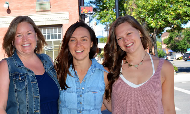 Tamara Mercandelli, Christel Hagn and Caitlin Berkhiem, co-owners of Kootenay Soulfood Cooperative.