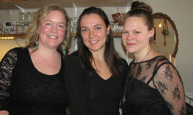Tamara Mercandelli, Christel Hagn and Caitlin Berkhiem, owners of Soulfood restaurant, are supporting and strengthening community connections in Cranbrook.