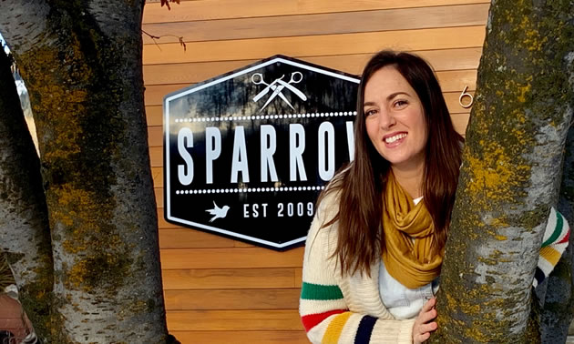 Stacey Goldade, owner of Sparrow Hair in Fernie.