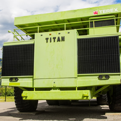 Titan mining machine in Sparwood, B.C.