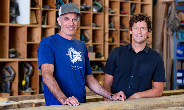 (L to R) Randy Richmond and Ted Hall, owners of Spearhead Inc.