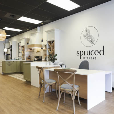 Kitchen design showroom for Spruced Kitchens