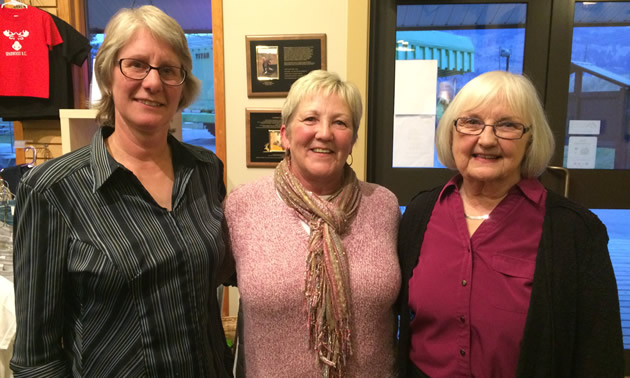 (L to R) Katrin Taylor, Kathy Letasy and Carol Walmsley head up the three non-profit groups nominated for Business Excellence in Sparwood for 2015.