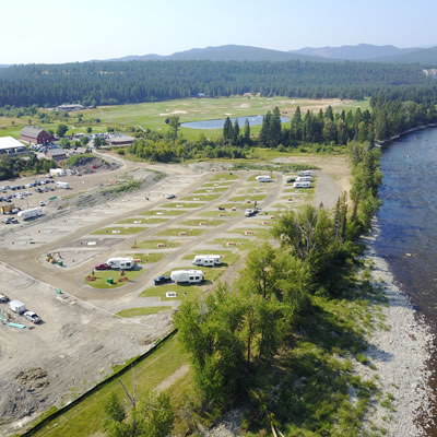 The new RV park at the St. Eugene Golf Resort & Casino site is situated on the banks of the scenic St. Mary River.