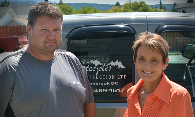 Former company receptionist Terri Sharpe has been co-owner of Steeples Construction with Earl Hoath since 2005.