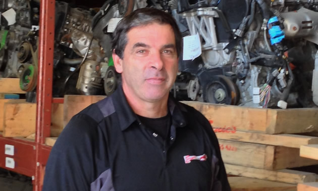Stuart Ady is the owner of the award-winning business Ernie's Used Auto Parts in Castlegar, B.C.