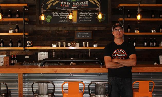 Owner of Trail Beer Refinery Mike Konkin.