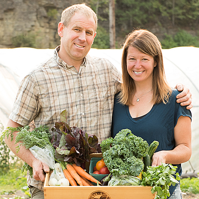 Rob Jay and Terra Park own and operate Terra Firma Farms in Revelstoke, B.C.