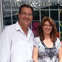 Tony and Eunice Mulder of Tony Mulder Jewellery, in Creston, with two staff members