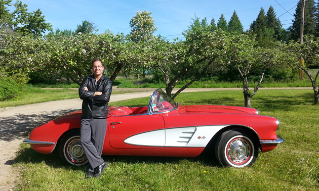 Tony Mulder with his 1960 Corvette