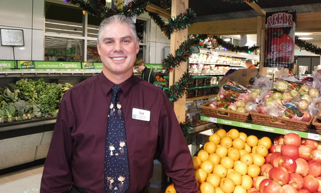 Ted Murrell is the general manager of Save-On-Foods in Nelson, B.C.