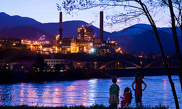 Teck's smelter at Trail, B.C.