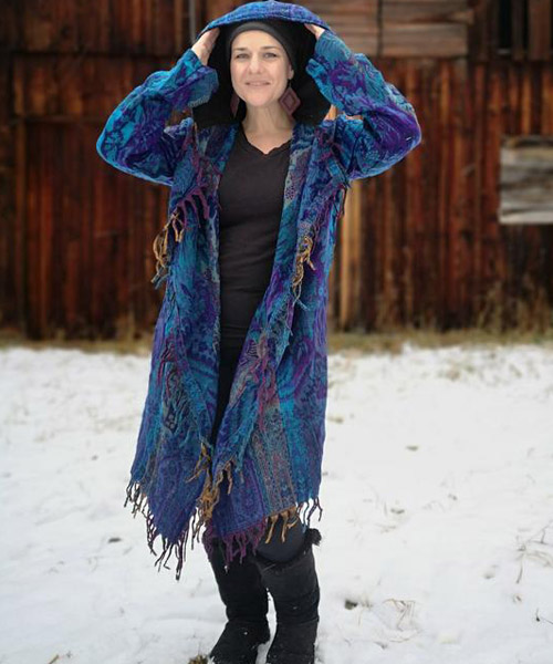The colourful and funky Denton jacket is one of Arcane Coda's best-selling items.