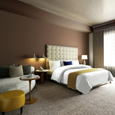 A modern and spacious room in The Josie, Rossland's newest destination hotel located at the base of Red Mountain.