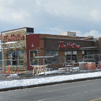 Tim Hortons renovation, Cranbrook, November 2014