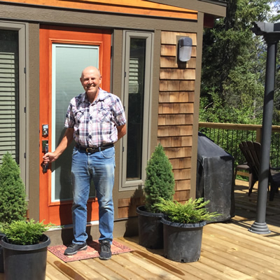 Building contractor Chuck Newhouse of Invermere, B.C., has built an elegant tiny house that has become a popular vacation rental.