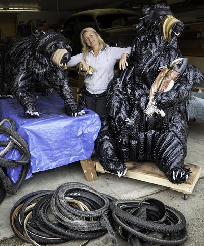 Artist Zuzana Riha poses with