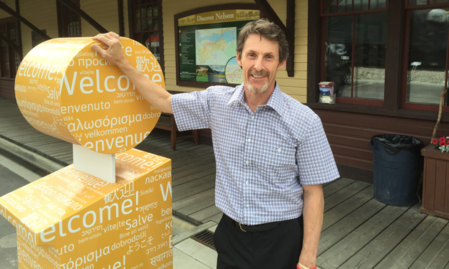 Tom Thomson, executive director of the Nelson & District Chamber of Commerce, is an advocate for the business community.