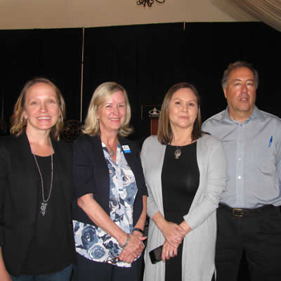 (L to R) Kristy Jahn-Smith of Cranbrook Tourism, Kathy Cooper of Kootenay Rockies Tourism, Paula Amos of Indigenous Tourism BC and Richard Porges, Destination BC.