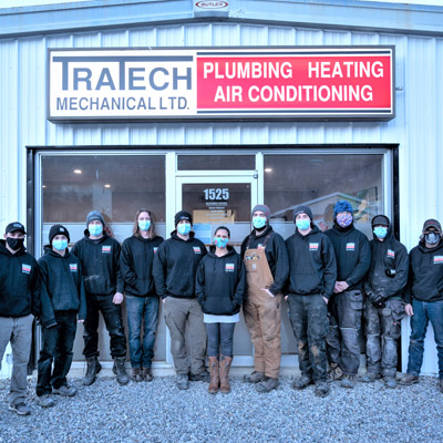 Group shot of employees at Tratech Mechanical Ltd. in Creston