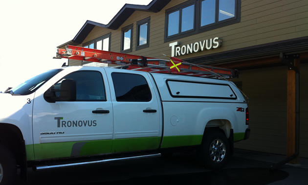 Photo of newly rebranded Tronovus building