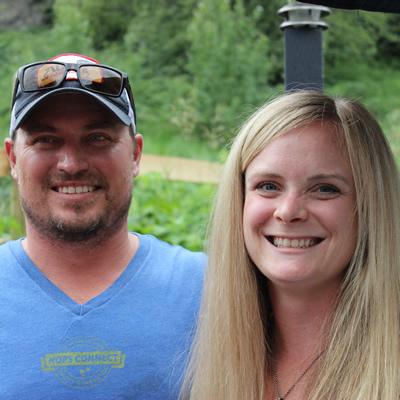 Troy Pyett and Carly Hadfield of the Lion's Head Smoke & Brew Pub in Castlegar, B.C.