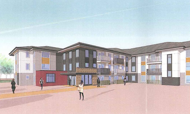 The Aqanttanam Housing Society in Cranbrook will be developing a new apartment building that will include 39 units.