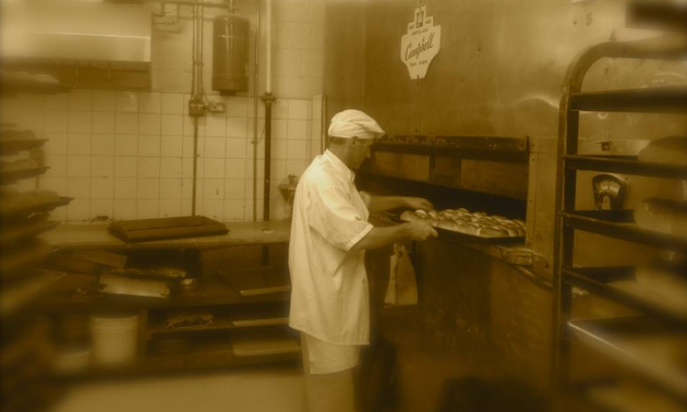 Eric Forbes in the bakery