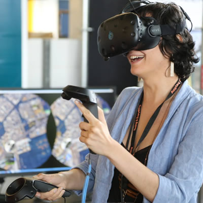 Virtual Reality demonstration at i4C Innovation's grand opening in June of 2017