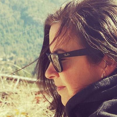 Close-up of Vanessa Terwoort.