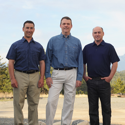 (L to R) Evan Kleindienst, David Struthers and Shawn Vokey, owners of Vast Resource Solutions in Cranbrook.