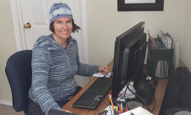 Leslie Vissers, a computer programmer for AMEC, works from her home office in Nelson, B.C.