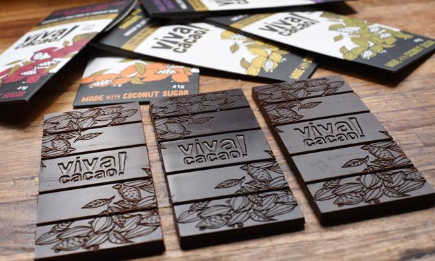Close up of Viva Cacao chocolate.