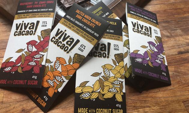 Vica Cacao chocolate bars.