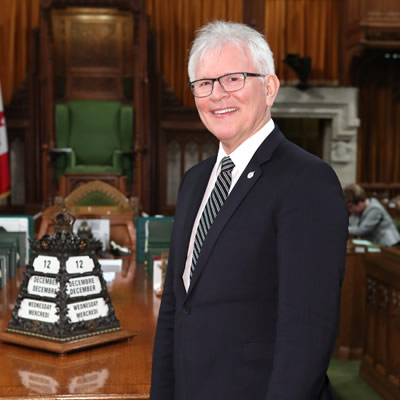 MP Wayne Stetski in the House of Commons.