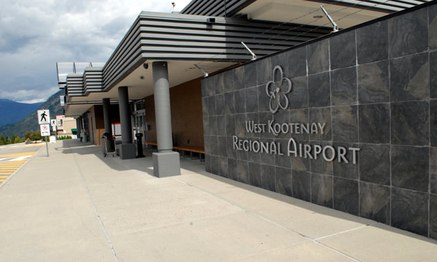 Entrance of West Kootenay Regional Airport