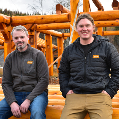 Rob Wheeler (L) and Carl Lauren brought Tyee Custom Homes to Kimberley, B.C., in 2005