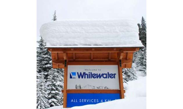 Whitewater Ski Resort sign.