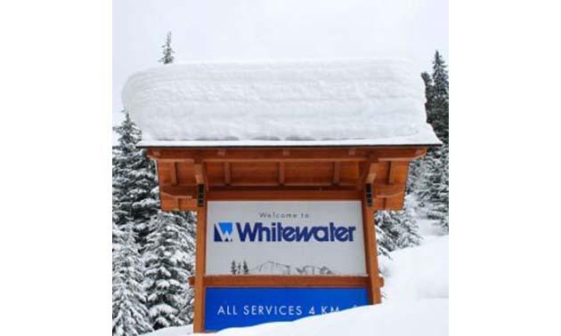 Whitewater Ski Resort sign.