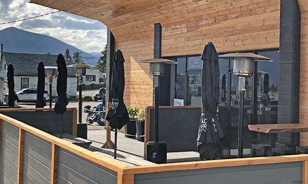 Wild North Brewing Co. outdoor patio.