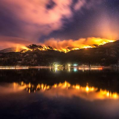 Syringa Creek Wildfire on September 7, 2018.