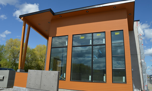Exterior of the Wildhorse Surgical Clinic in Cranbrook, with construction almost complete