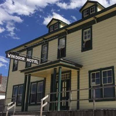 The Windsor Hotel, located in the Fort Steele Heritage Town.