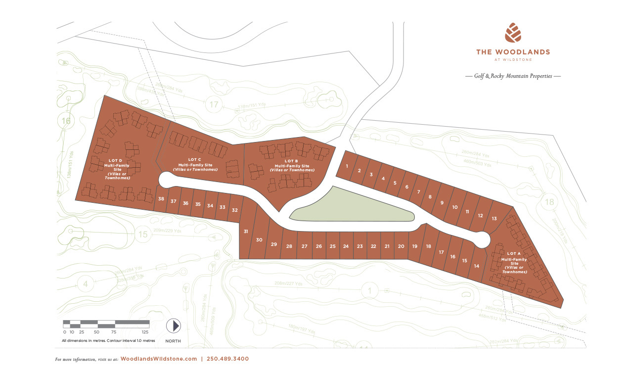 Site map that site location positioned in the centre of five fairways.