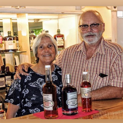 Pat and Jeanette Meerholz are owners of award-winning Wynndel Craft Distilleries in Creston Valley.
