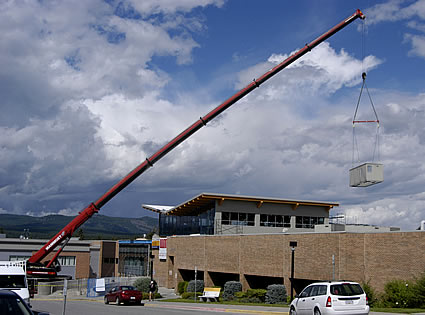 photo of a crane being used