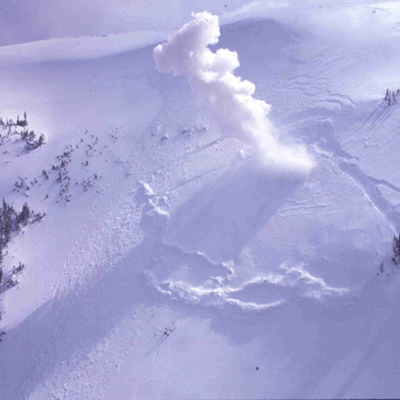 Picture of avalanche.